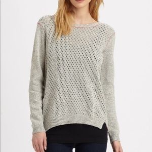 Rebecca Taylor Split Back Sweater grey M